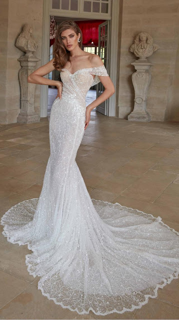 Soft mermaid gown artfully draped with a delicate silk - weddings ideas - wedding planning services in Philadelphia PA - weddings ideas blog by K'Mich Weddings