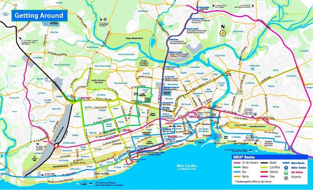 transport map santo domingo dominican republic