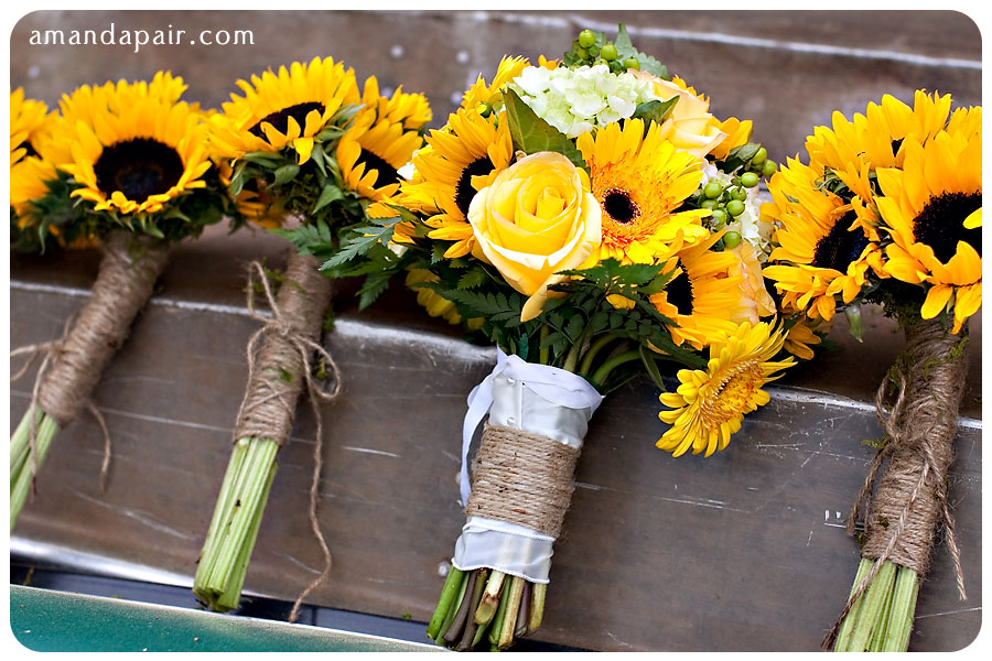 Sunflower And Purple Flower Bridal Bouquets | Gardening: Flower and ...