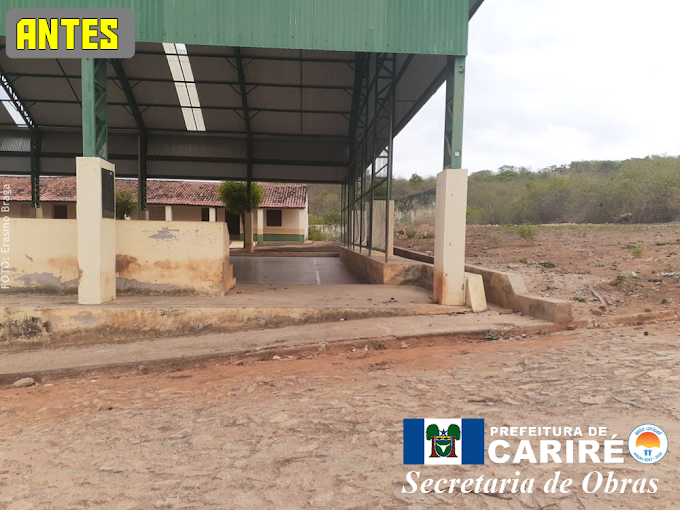 Quadra coberta de Jucá recebe novo portão e limpeza geral