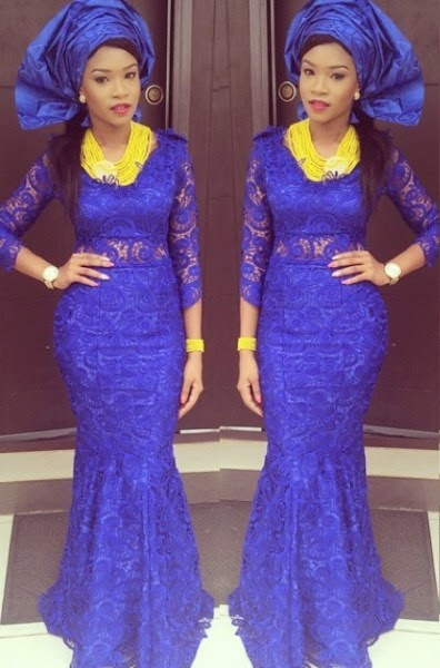 Ankara Lace Long Gown Style Dezango Fashion Zone