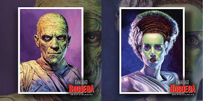 San Diego Comic-Con 2018 Exclusive Universal Monsters Portrait Fine Art Giclee Prints by Ed Repka x Super7