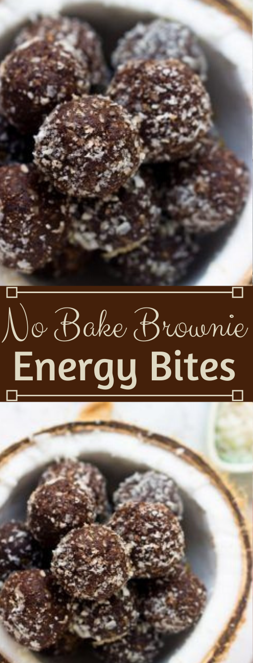 No Bake Brownie Energy Bites #desserts #cakes #easy #brownies #bars