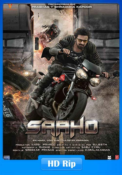 Saaho 2019 Hindi 720p HDRip ESub x264 | 480p 300MB | 100MB HEVC