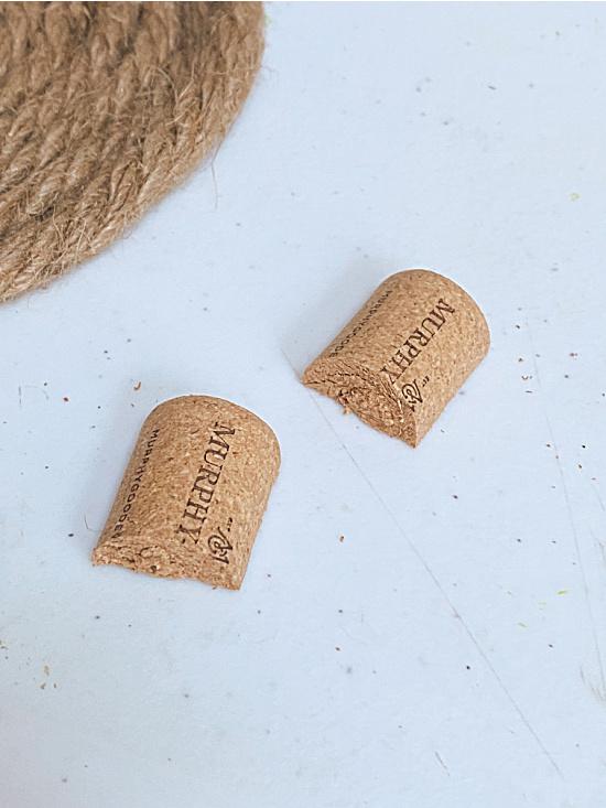 cork cut in half