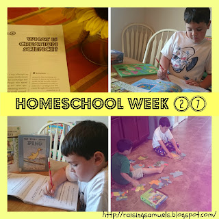 Homeschool Week 27
