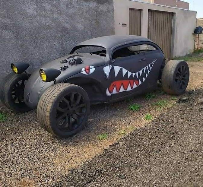 VW Beetle Matt Black Sharktooth Volksrat Rat Buggy