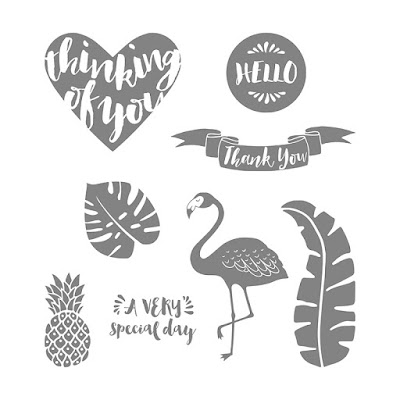 Pop of Paradise stamp set, Stampin' Up!