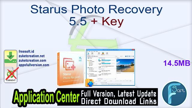 Starus Photo Recovery 5.5 + Key