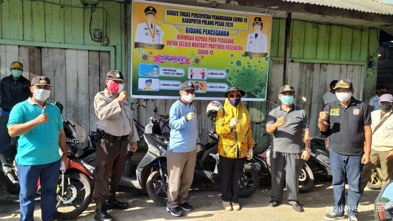 Di Pasar Jabiren, Gugus Tugas Covid-19 Pulpis Ajak Masyarakat Patuhi Protokol Kesehatan