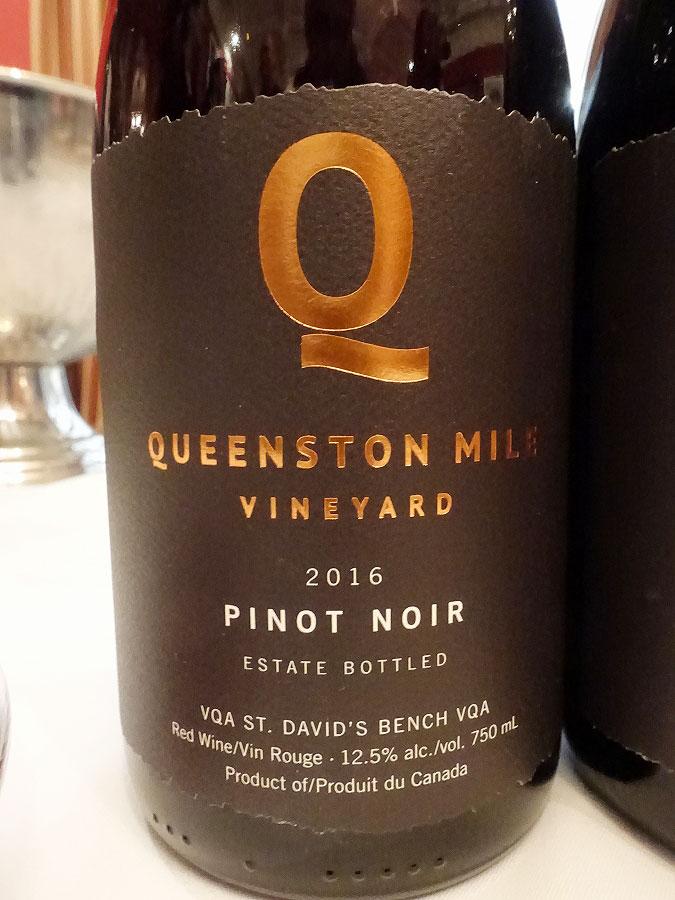 Queenston Mile Vineyard Pinot Noir 2016 (89 pts)