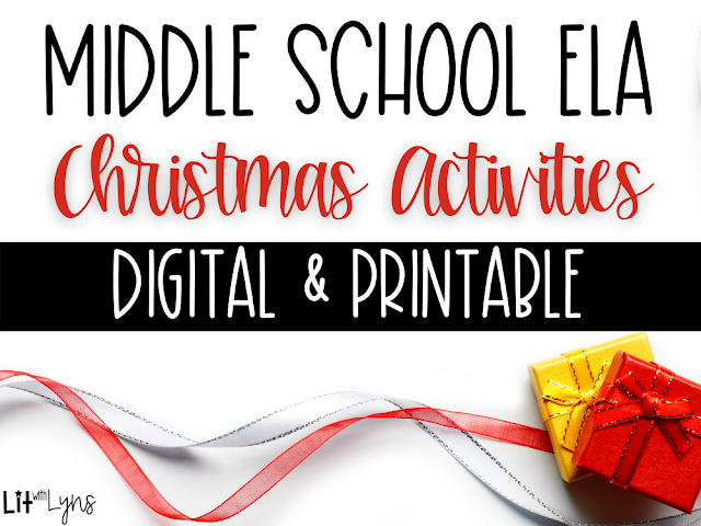 Middle School ELA Christmas Activities
