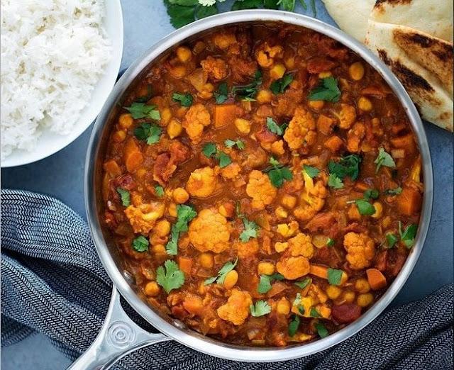 Cauliflower and Chickpea Masala #vegetarian #vegan