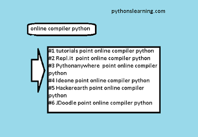 tutorials point online compiler python