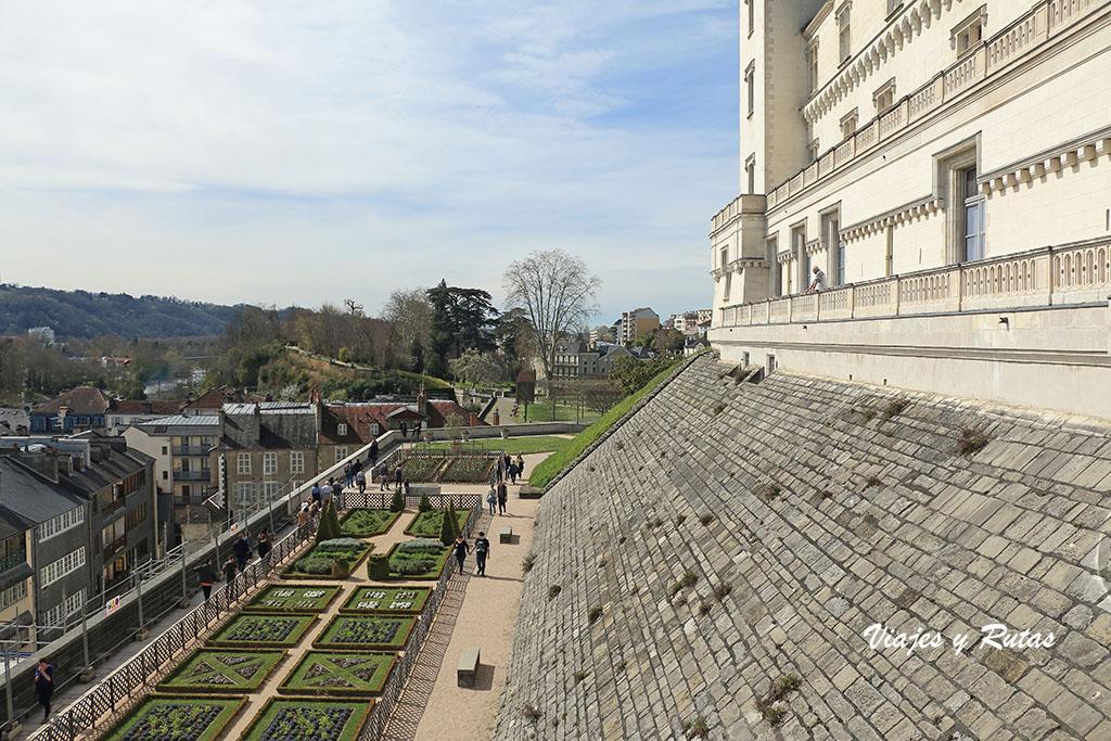 Jardines del Castillo de Pau en Francia