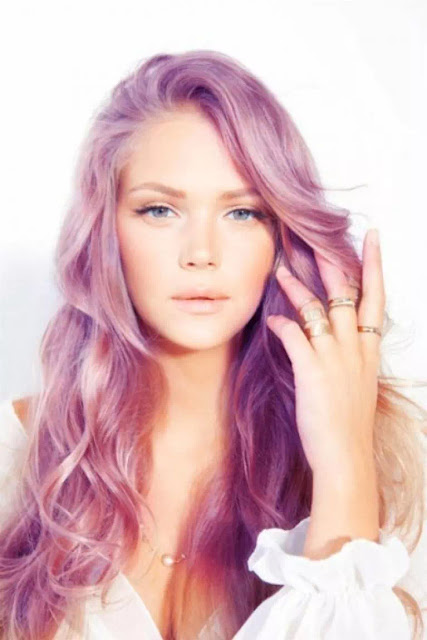 pink and pastel colored ombre hairs