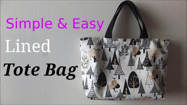 Easy DIY Lined Tote Bag Tutorial