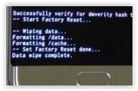 data wipe complete - samsung galaxy note 7
