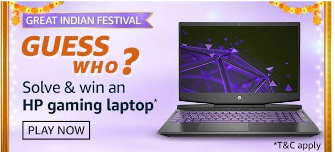 Amazon Guess Who Quiz Answers – Win HP Gaming Laptop