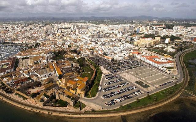 Vista aérea de Faro – Portugal