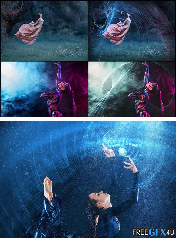 50 Photo Overlays Mystical Ice Light