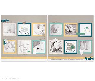 CTMH Baby Scrapbook Paper Georgie