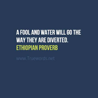 A fool and water will go the way they are diverted