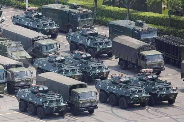 Paramiliter China Gelar Latihan Di Perbatasan Hongkong