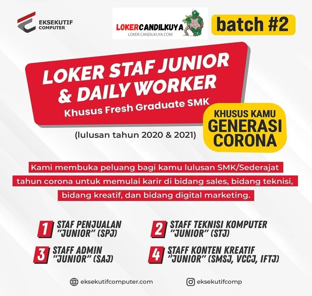 Lowongan Kerja Staf Junior dan Daily Worker