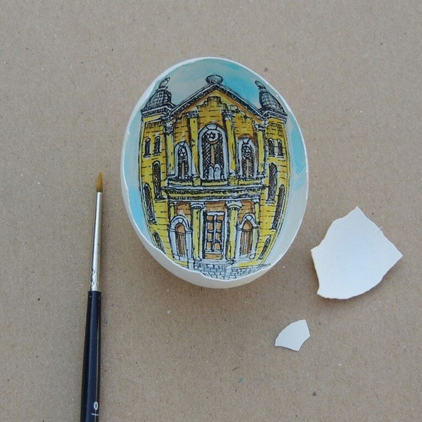 17-Grand-Synagogue-of-Edirne-Süreyya-Noyan-Architecture-Drawings-Art-Paintings-in-an-Egg-www-designstack-co