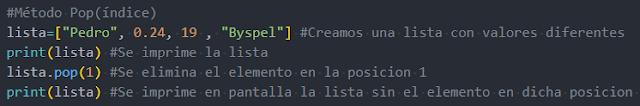 Métodos de eliminación con Python