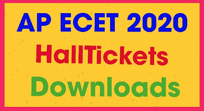 AP ECET - 2020: AP Engineering Common Entrance Test Hall Tickets Released.