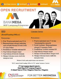 Lowongan Kerja Bank Mega KCP Lampung Pringsewu