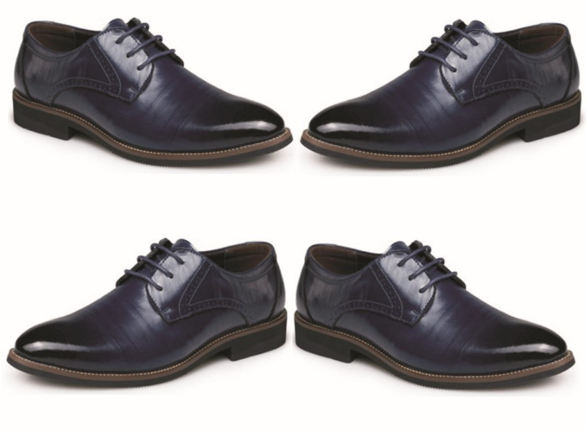 Men's Shoes: Pointed Toe Lace Up Leather Shoes for Business and Casual Outings