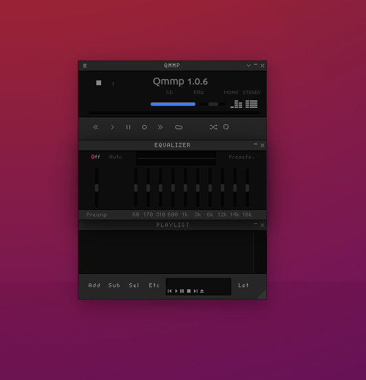 Qmmp 1 0 6 is Released, A free music playback For Ubuntu