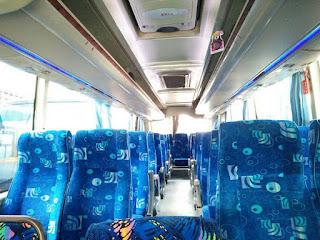 Interior Bus Pariwisata Jogja Seat 35 Harga Murah