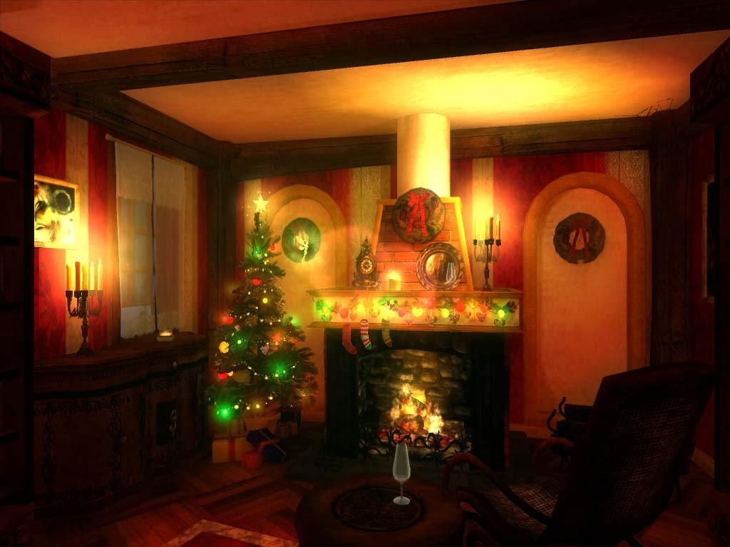 Wallpaper Hd For Desktop Background Magic Night In Christmas