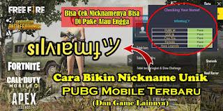 Cara Membuat Nickname PUBG Mobile Menjadi Keren Dengan Mudah dan Simpel