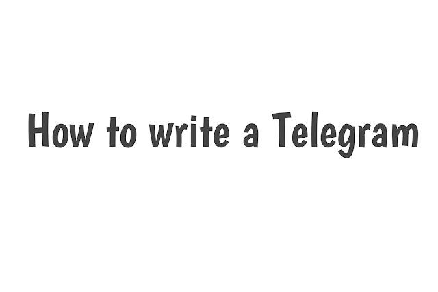 How to write a TELEGRAM??send a telegram  telegram bot list  send a telegram