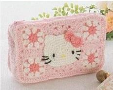 Patrón #859: Cartera Hello Kitty a Crochet