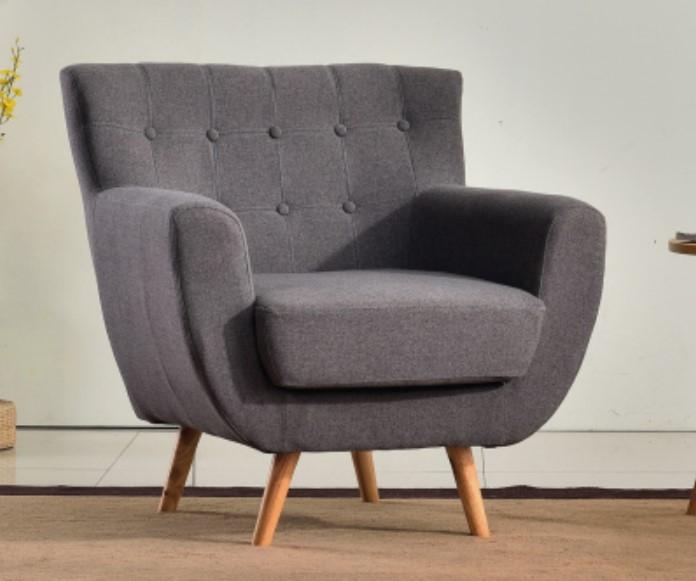 Grey minimalist sofa single couch for kids elegant