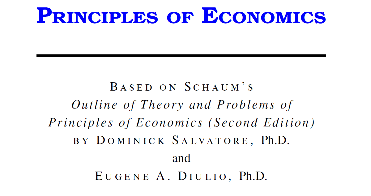 Principles.Of.Economics, Dominick Salvatore, Second Edition with manual solution PDF