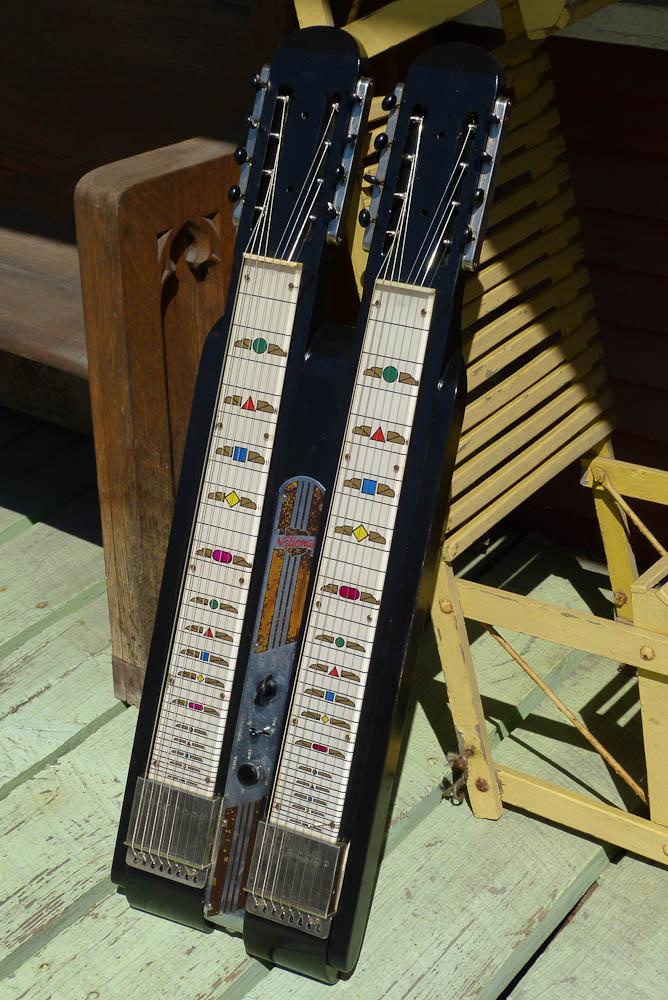 C1950 National Double Neck Grand Console Lap Steel Guitar