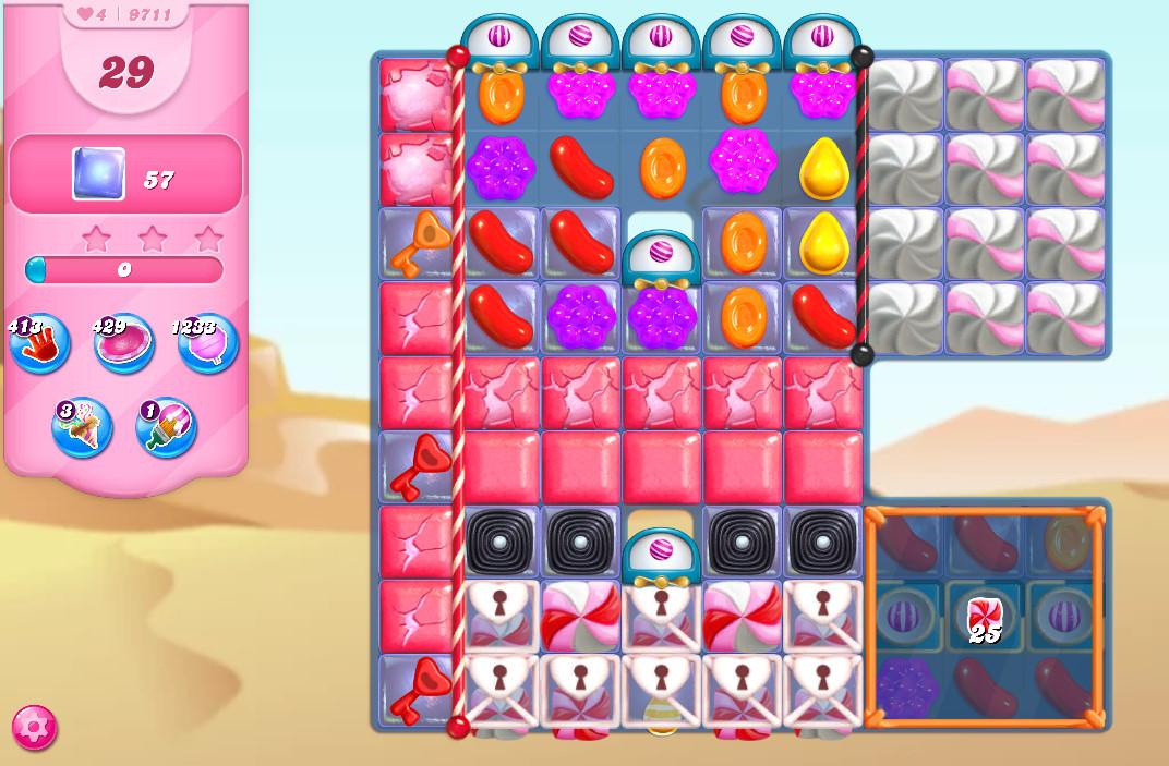 Candy Crush Saga level 9711