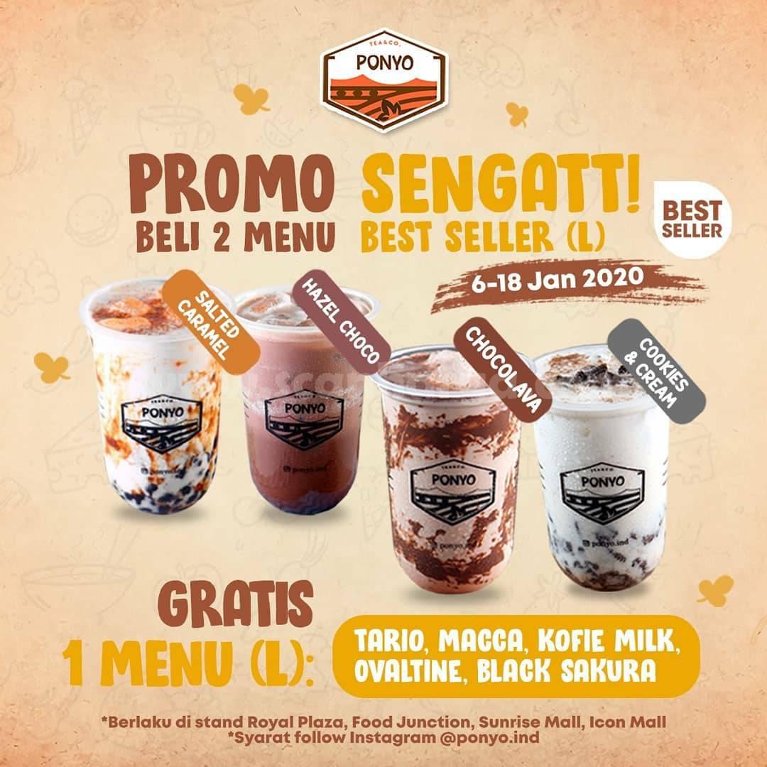 PONYO Promo SENGATT! Beli 2 Menu Best Seller GRATIS 1