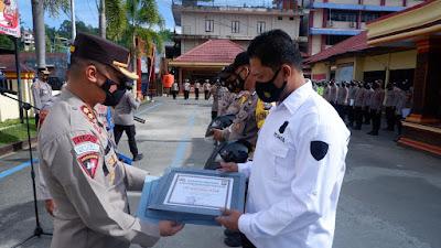 Ungkap Kasus Dengan Cepat, Tim Batitong Maro Terima Penghargaan Kapolres Tana Toraja
