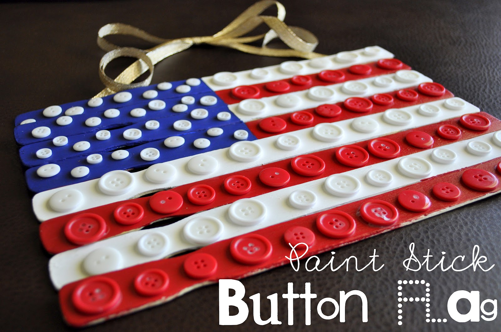 0f17398a649d Paint Stick Button Flag Craft