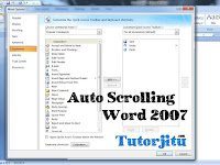Cara Mengaktifkan Fungsi Scrolling Secara Otomatis di Word 2007
