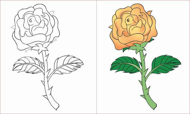 gambar-sketsa-bunga-mawar