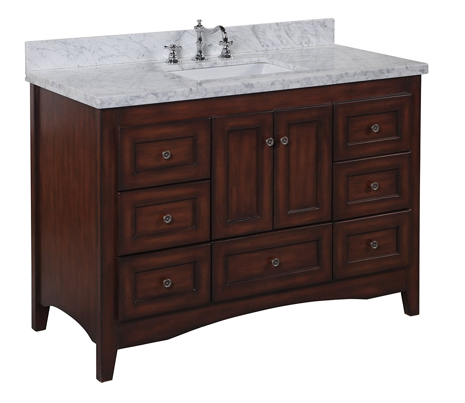 reveiws kitchen bath collection kbc388brcarr abbey bathroom vanity with marble countertop - Bathroom Collections Furniture